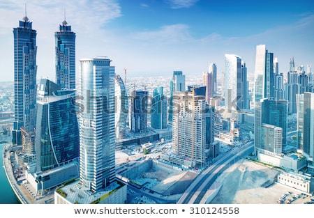 Dubai modern Cityscape şehir merkezinde mavi gökyüzü sınır Stok fotoğraf © Anna_Om