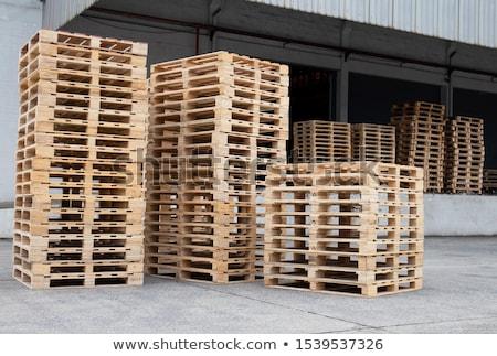 wooden pallets Stock photo © xedos45