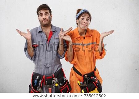 Artesão tubo ombro trabalhar homens Foto stock © photography33