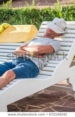 man asleep in the garden stock photo © photography33