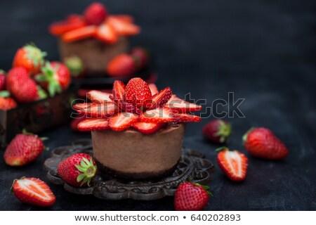 Individual pastel de chocolate alimentos frutas torta postre Foto stock © photography33