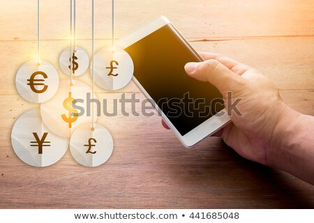 pound symbols on screen showing money and investment stock photo © stuartmiles