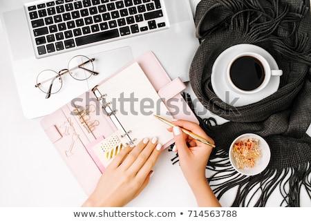 Nő ír iroda tervező toll öltöny Stock fotó © photography33