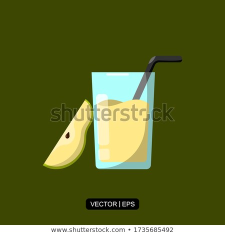Stockfoto: Pear Juice Vector Illustration