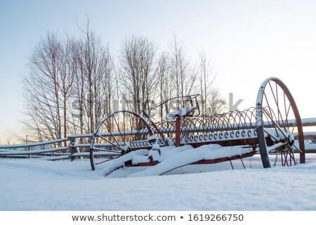 古い ファーム 機械 画像 木製 ストックフォト © clearviewstock
