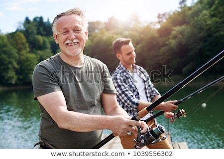 отец · рыбалки · сын · девушки · трава · зеленый - Сток-фото © photography33