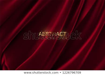 赤 · ワイングラス · シルク · アルコール · 皿 - ストックフォト © m-studio