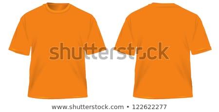 Preto laranja tshirt projeto templates Foto stock © experimental