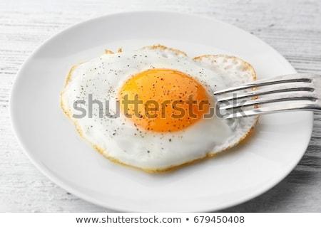 Stok fotoğraf: Yumurta · güneşli · yan · yukarı · marul