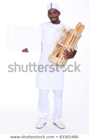 anuncio · imagen · masculina · mano · papel · en · blanco - foto stock © photography33