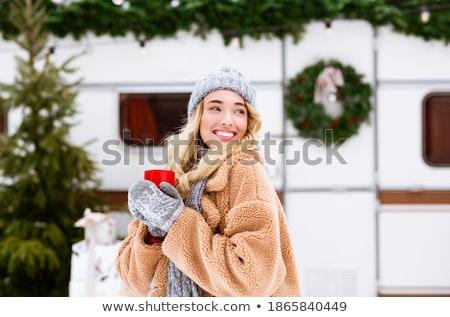 кружка женщину горячей кружка кофе чай Сток-фото © ruigsantos