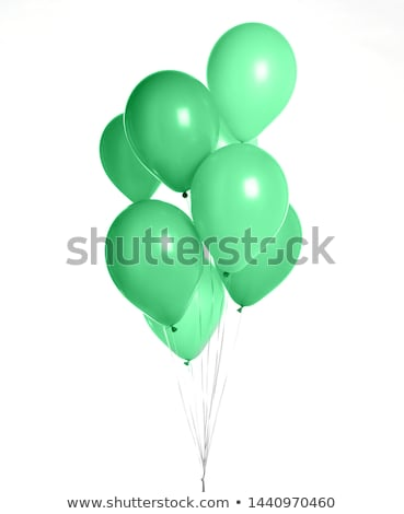 red and green balloons isolated on white stock photo © shutswis