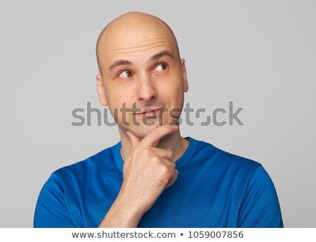 Kopasz férfi gondolkodik égbolt arc szemek Stock fotó © photography33