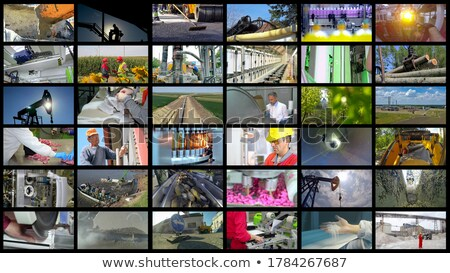 collage showing construction work stock photo © photography33
