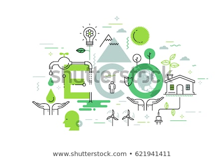 Poster energy consumption and layout of houses Stock photo © photography33