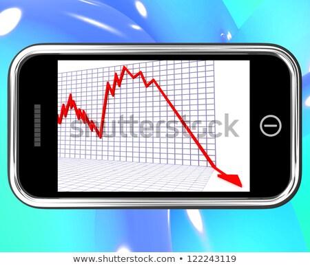 flecha · caer · crisis · financiera · quiebra · negocios - foto stock © stuartmiles