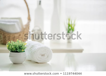 Green and white towels Stock photo © michaklootwijk
