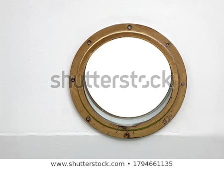 Ship porthole on white wall Stock photo © pzaxe