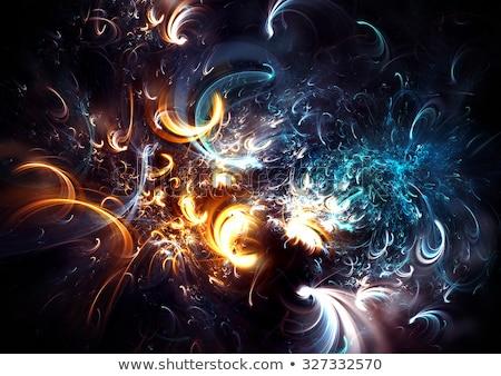 Geheimnisvoll Lichter swirl Geist abstrakten Design Stock foto © kentoh