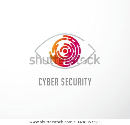 Szem hálózat technológia kulcs zár óra Stock fotó © arcoss