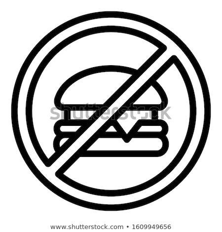 No fast food label Stock photo © Hermione