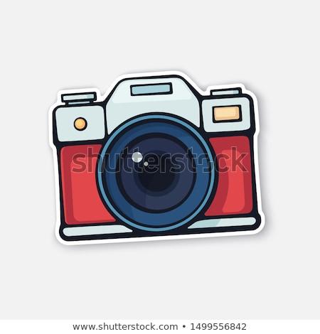 Sticker with an aperture design Stock photo © maxmitzu