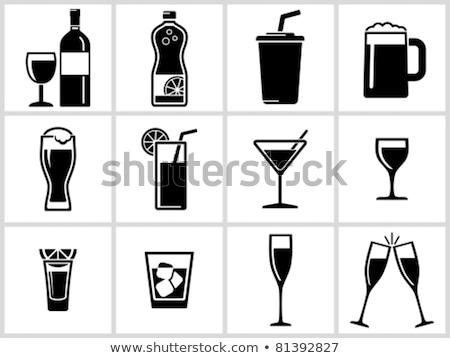 ワイン ビール ガラス カップ ベクトル セット ストックフォト © krabata