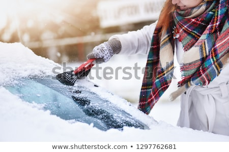 Bevroren auto venster winter ochtend Stockfoto © remik44992