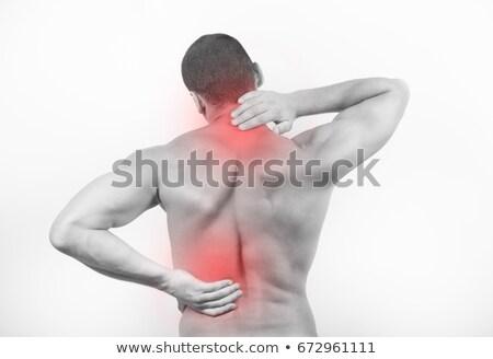 muscular · homem · dor · nas · costas · branco - foto stock © wavebreak_media