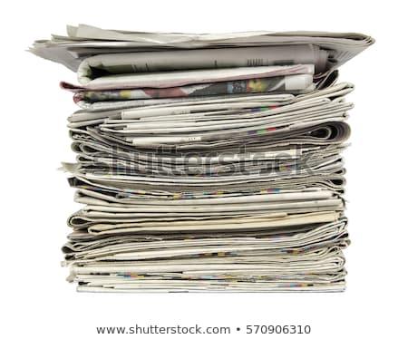 газет Новости печать черный цвета Сток-фото © pterwort