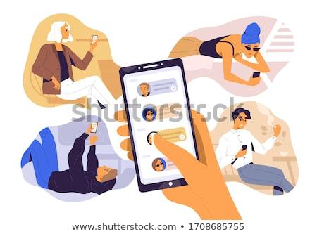 Mensagem comunicação abrir humanismo cabeça pessoas Foto stock © Lightsource