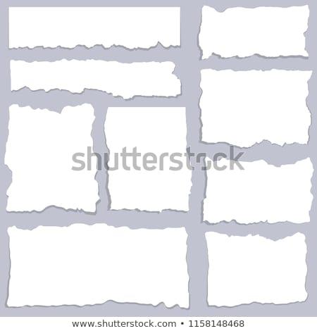 gray cardboard with newspaper scraps Stock photo © Zerbor