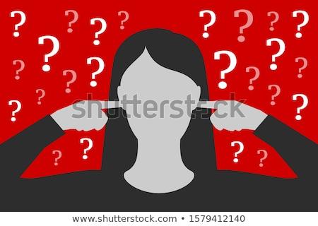 деловая женщина стороны уха портрет довольно белый Сток-фото © williv
