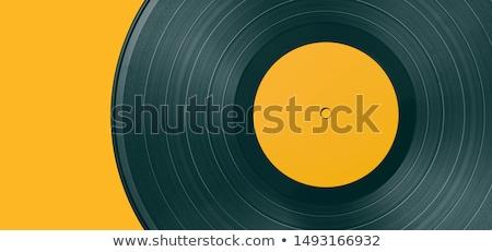 Música fones de ouvido vinil registros projeto ilustração Foto stock © lenm