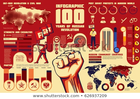 Sovjet- unie banners ingesteld papier collectie Stockfoto © vavlt