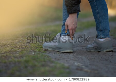 Girl with leg injured Stock photo © photography33