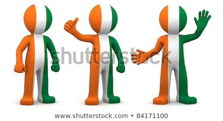 3d character textured with flag of ivory coast stock photo © kirill_m