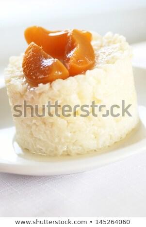 риса абрикос сладкие блюда фрукты Сток-фото © MKucova