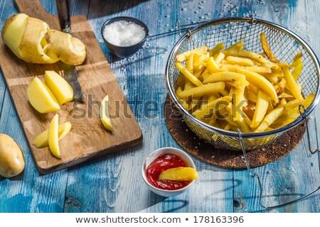 raw homemade french fries stock photo © m-studio