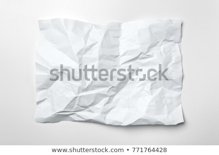 White crumple paper and notepad Stock photo © leungchopan