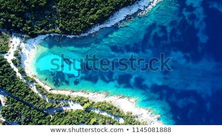 Homok Karib tenger tengerpart tájkép háttér Stock fotó © oly5