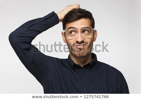 Biznesmen głowie wątpić elegancki przystojny młodych Zdjęcia stock © stryjek