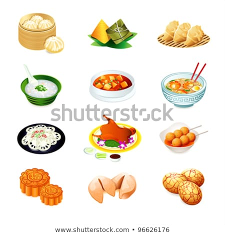 Stock photo: Chinese Food: Colorful steamed dumplings