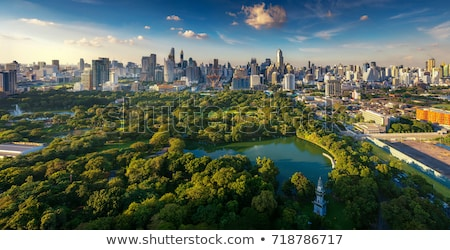 Skyline of Bangkok city. View from Lumpini park Stock photo © pzaxe