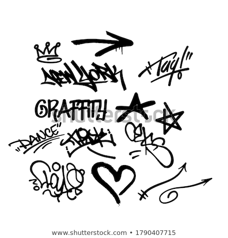 Elemento grafite parede pintar pintura nosso Foto stock © anbuch
