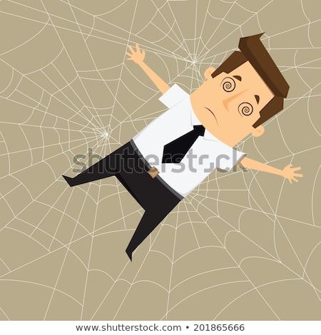 Pókháló közelkép barna szín hálózat háló Stock fotó © smuay