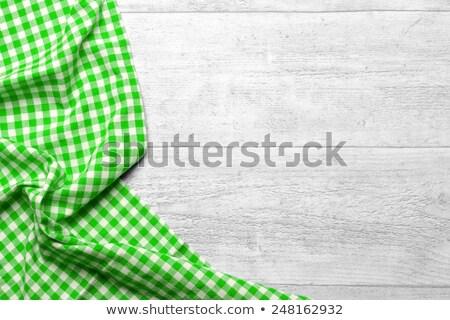ナプキン エッジ テーブルクロス 編まれた リネン 抽象的な ストックフォト © manera
