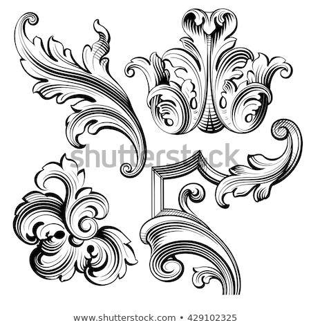Гранж · синий · щит · эмблема · крыльями · краской - Сток-фото © beholdereye
