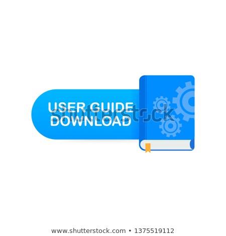 Technikai oktatás cím könyv oktatási kék Stock fotó © tashatuvango
