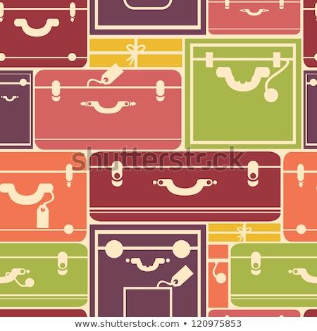 viaje · maleta · estilo · sin · costura · vector · patrón - foto stock © elenapro